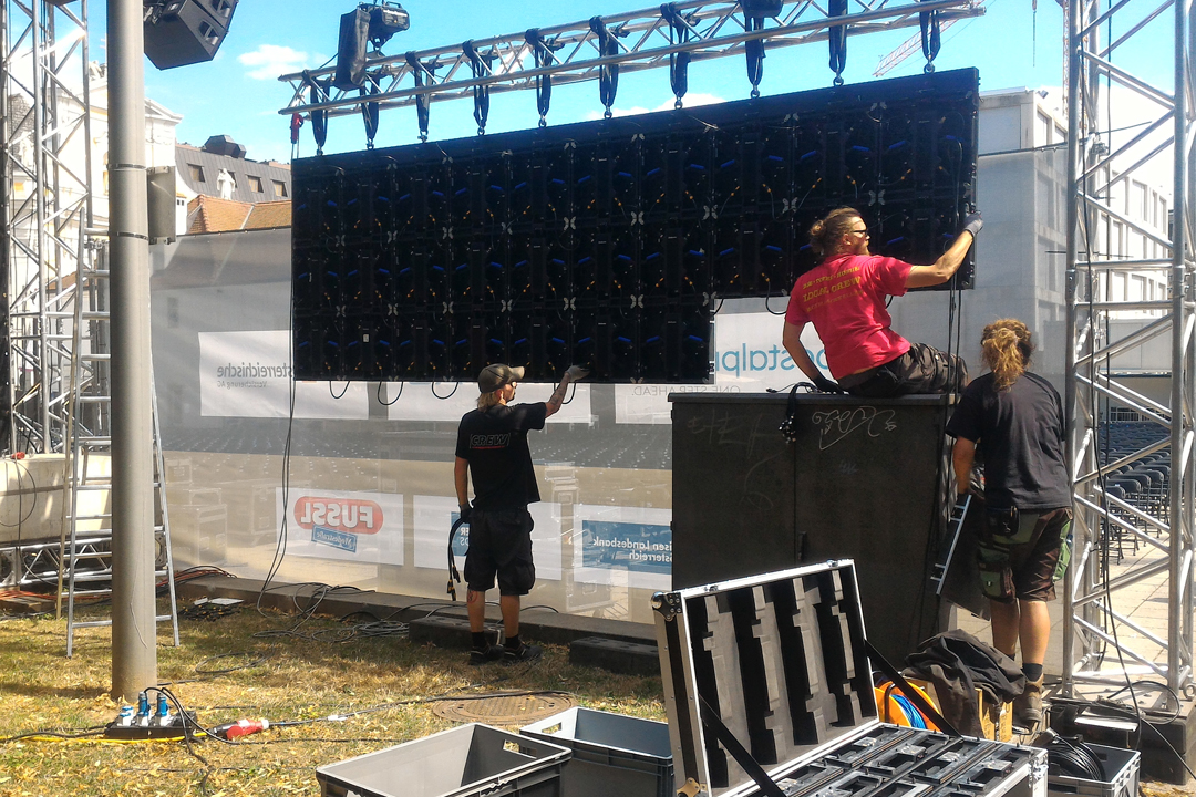 Aufbau LED-Screen
